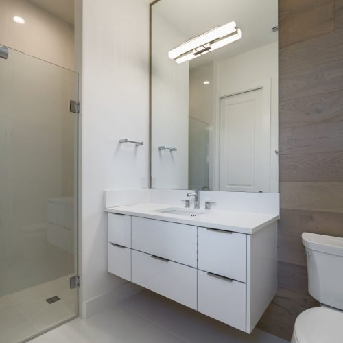 bathroom interior in Beck custom home