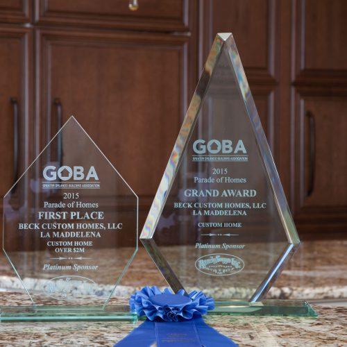 Parade of Homes awards for Beck Custom Homes