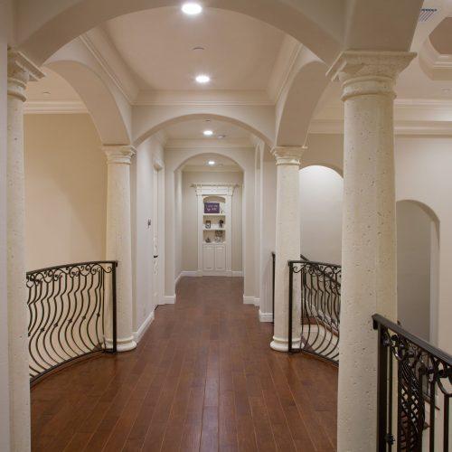 upstairs hallway in custom home by Beck Custom Homes