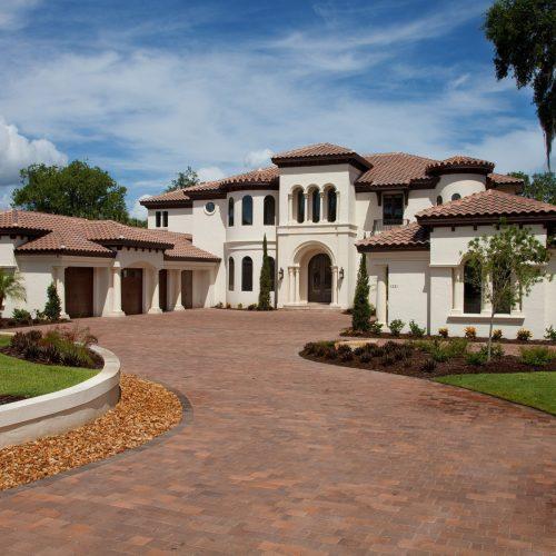 new custom Mediterranean style home
