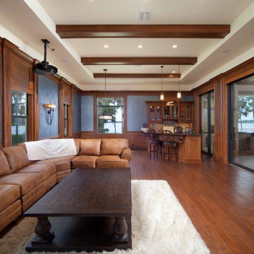custom interior at Orlando Mediterranean style home