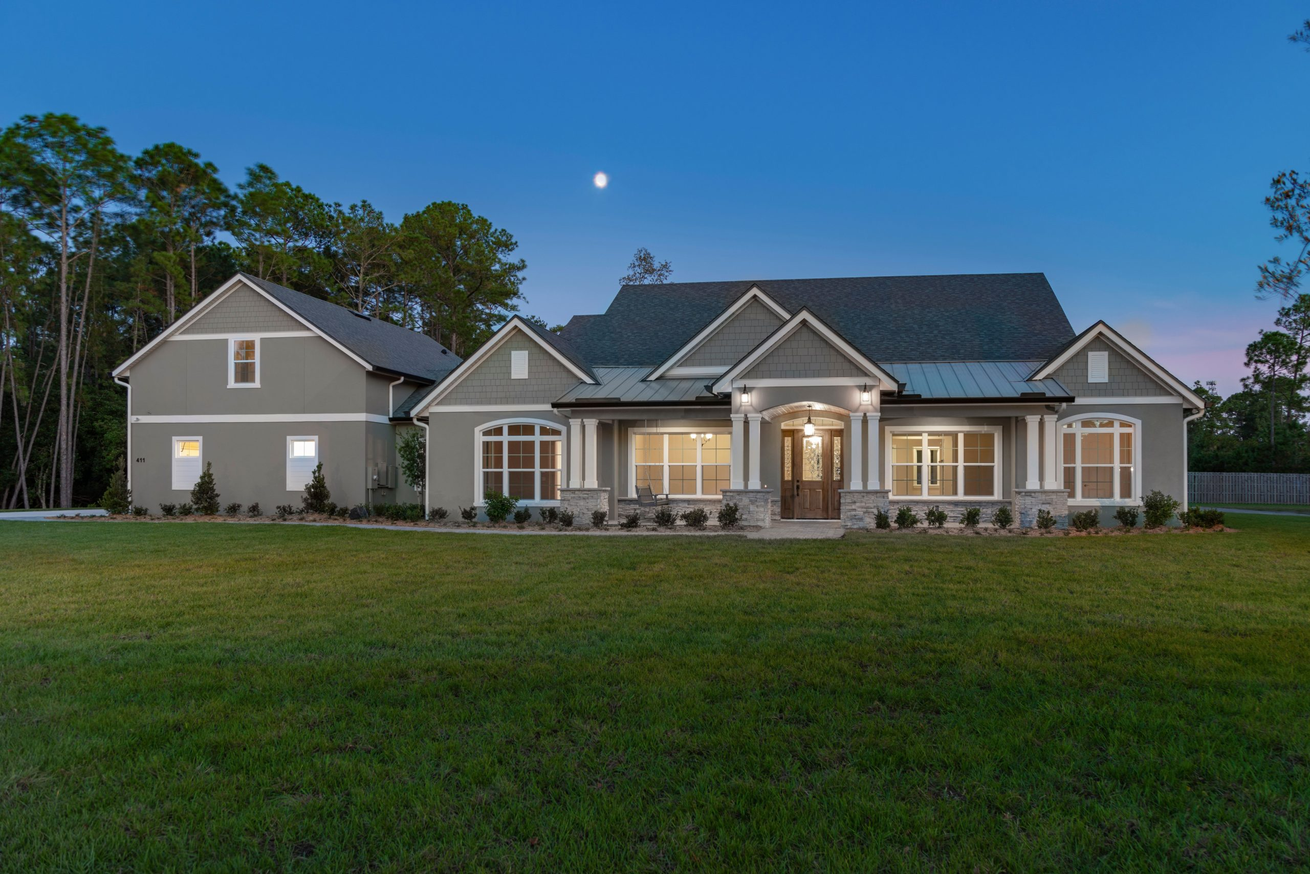 Mid Atlantic Traditional Custom Home Front Elevation
